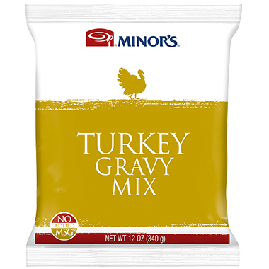 Minor's Turkey Gravy Mix 12 x 12 oz Pouch